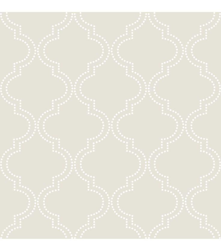 Wallpops Nuwallpaper Taupe Quatrefoil Peel And Stick Wallpaper Quatrefoil Wallpaper Nuwallpaper Peel And Stick Wallpaper