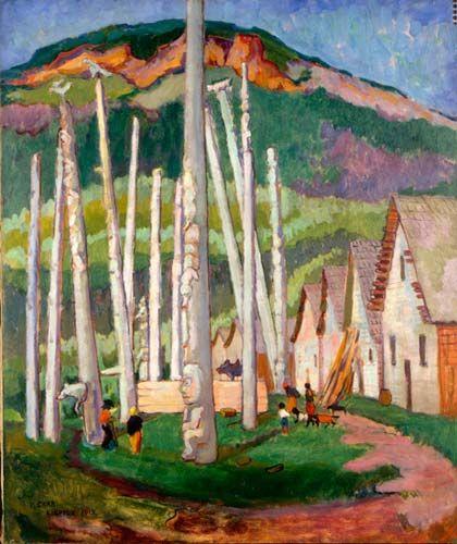 Kispiox Village, Emily Carr, 1912