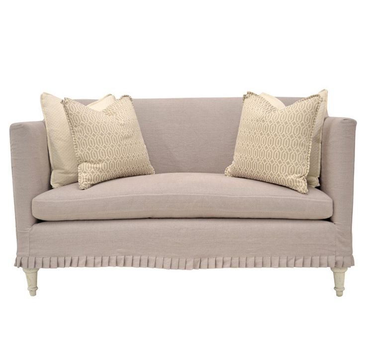 quatrine furniture. Quatrine Furniture - Slipcovered Antoinette Loveseat With Knife Pleat Skirt E