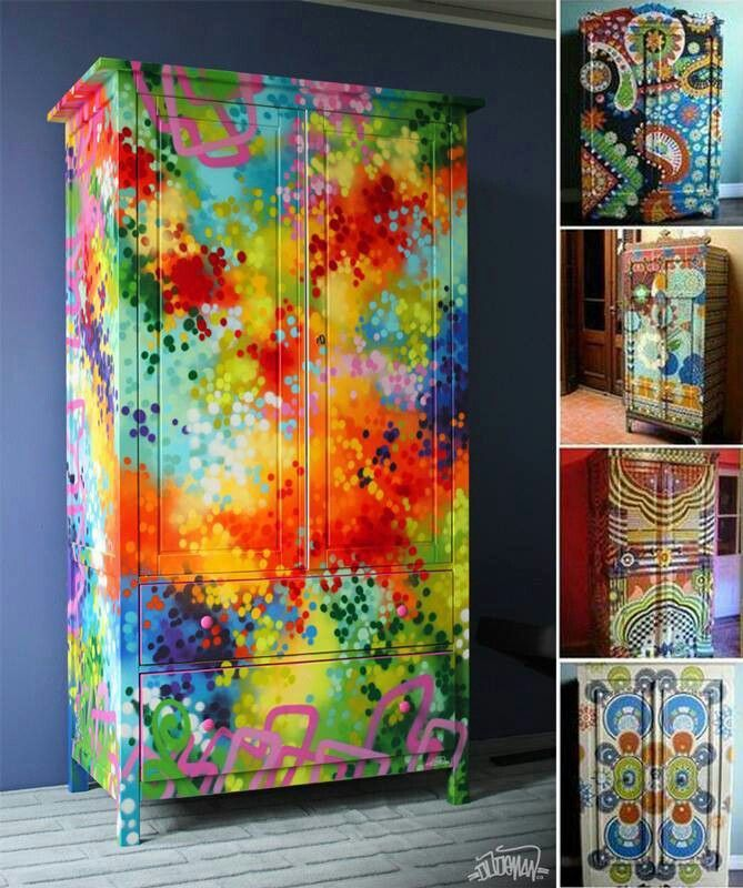 17 best images about id es maison d co on pinterest for Hand painted furniture ideas