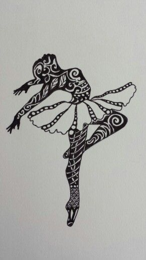 Zentangle ballerina template google 39 da ara zentangle for Doodle for google template