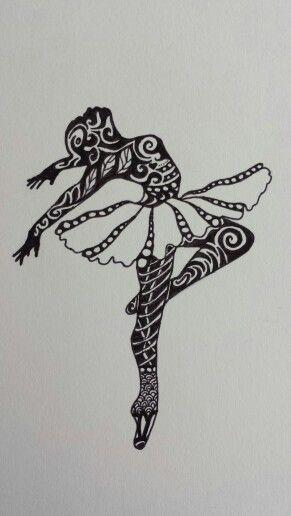 Zentangle ballerina template google 39 da ara zentangle for Doodle for google template