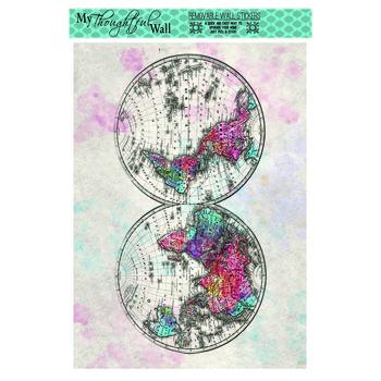"24"" x 36"" Watercolor World Map Vinyl Wall Poster   Hobby Lobby"