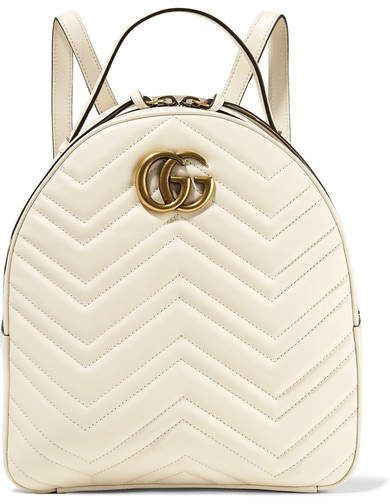 b3cd05bf3f2f Gucci - Gg Marmont Quilted Leather Backpack - Ivory #gucci #ShopStyle  #MyShopStyle click link for more information
