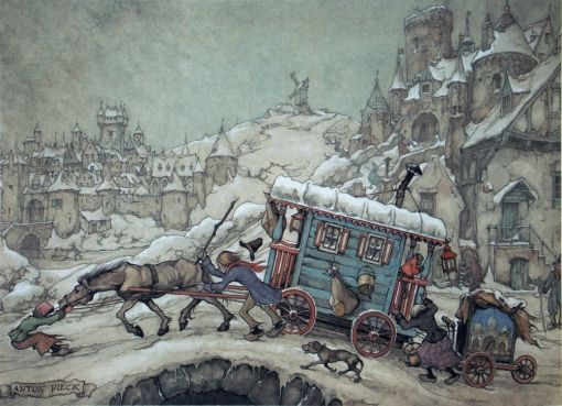 Anton Pieck (introduced to his work   while in Netherlands