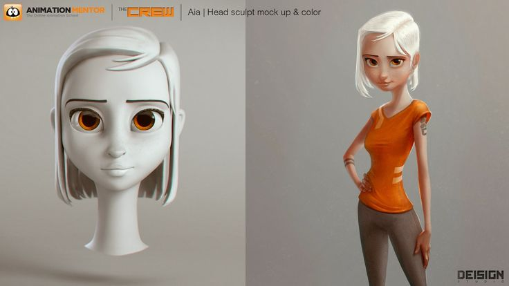 DEISIGN: Animation Mentor CREW Characters   Creating Aia