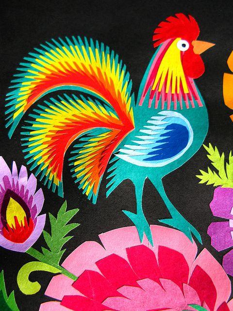 Easter Folk Art - Polish Wycinanki (cut outs) by ania b. alyson, via Flickr
