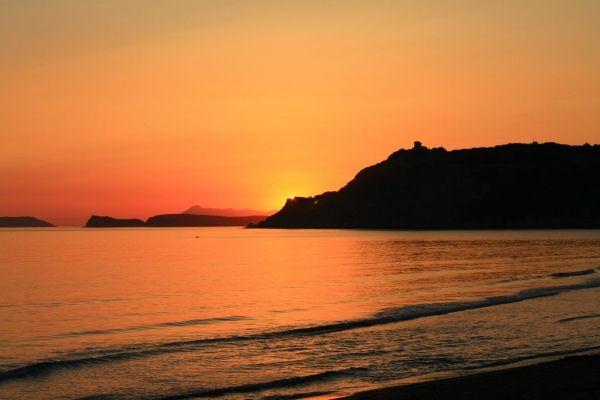 Sunset at Arillas beach