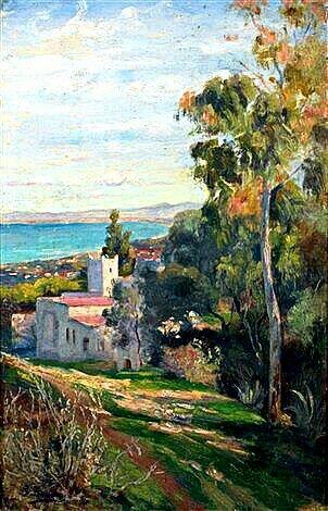 Peinture d'Algérie - Peintre Français, S. BERNOL (XIX-XX), Huile sur toile, Titre: La Baie d'Alger .
