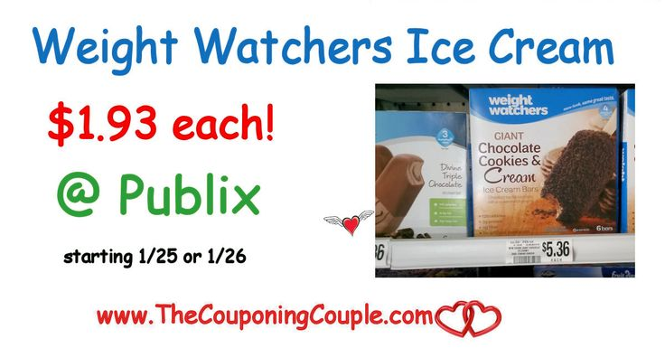 ** Cheap Weight Watchers Ice Cream @ Publix starting 1/25 or 1/26. Be sure to get your coupons ready for this sweet deal. We love these here in our house!  Click the link below to get all of the details ► http://www.thecouponingcouple.com/cheap-weight-watchers-ice-cream-publix-starting-126/ #Coupons #Couponing #CouponCommunity  Visit us at http://www.thecouponingcouple.com for more great posts!