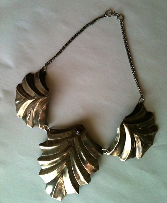 Tarnished Silver Necklace Cleopatra Inspired by RetroJunction, $20.00