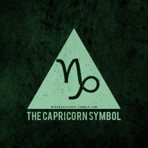 The Sea-Goat. A mountain goat with a fish's tail; an impossible creature. A dog paddler at sea and a waddler on land— except in the world of symbolism. There, the Sea-Goat loses all clumsiness and vulnerability. He becomes a symbol of ultimate, absolute power. #Capricorn