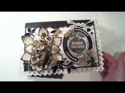 Altered book in black and white