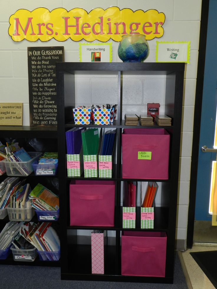 Classroom storage.... expedit from Ikea