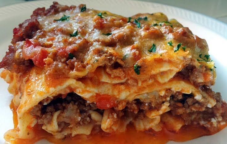 "Ray's' Three Meat Lasagna! "":hungry three meats..oh yummm"" ..."