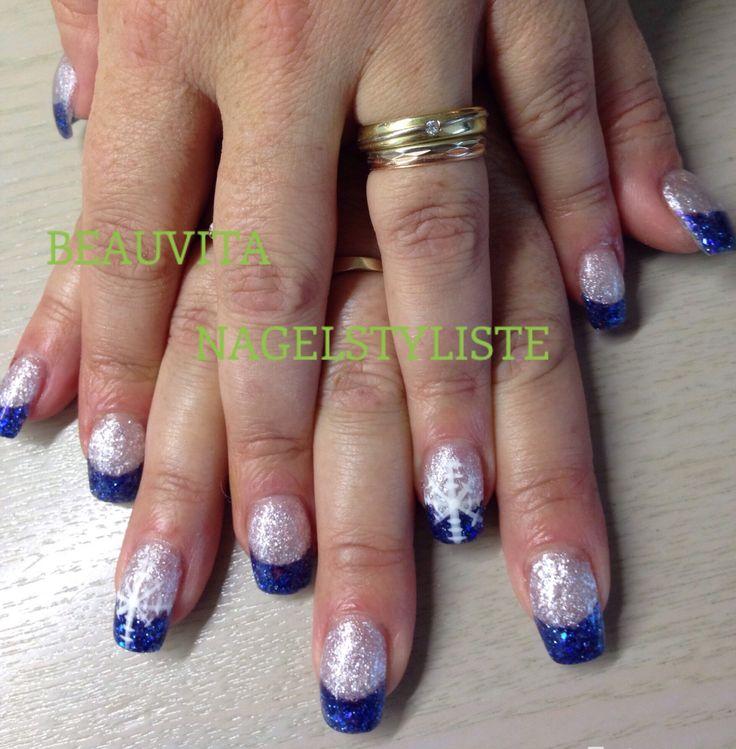 Kobaltblauw en zilverglitter