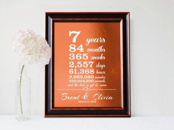 7 Year Wedding Anniversary Gift Ideas For Him: Best 25+ 7th Anniversary Gifts Ideas On Pinterest