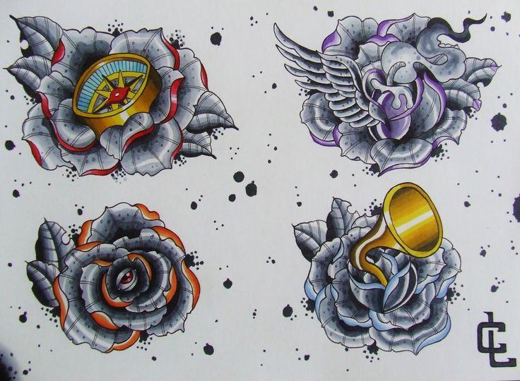 rose flash- curtis lawson art