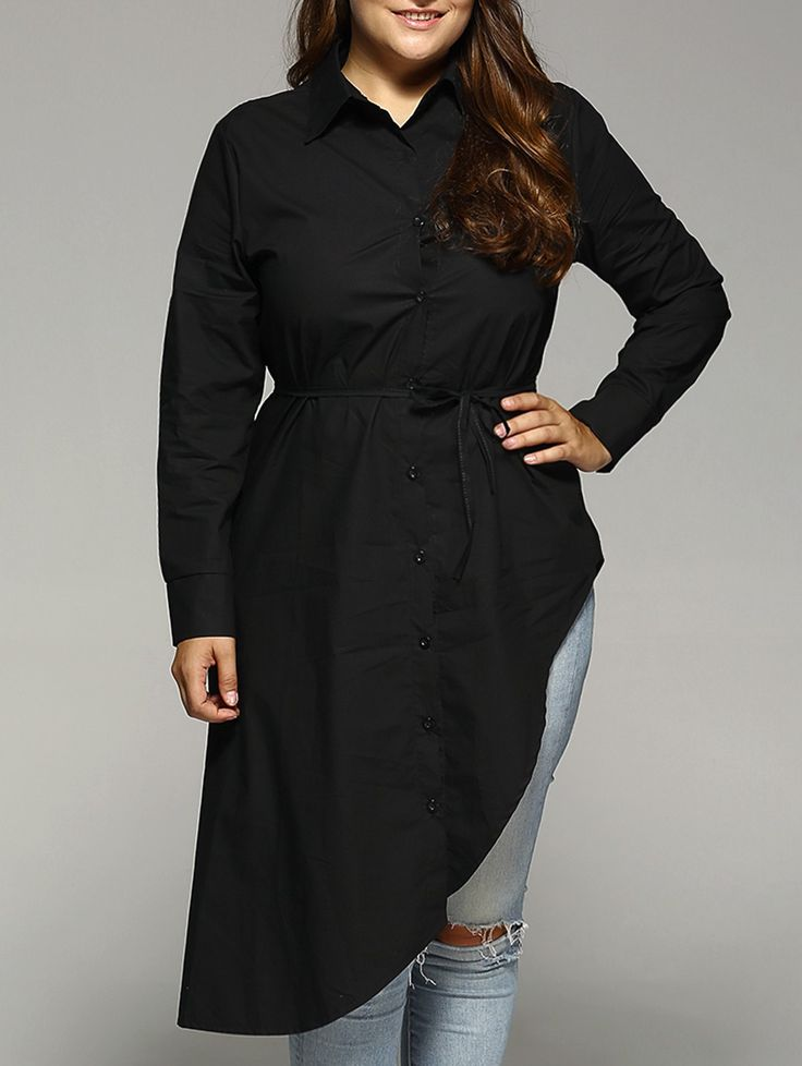 Belted military shirt dress plus size
