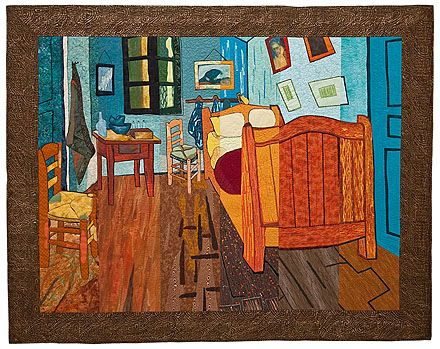 incredible!: Slices Quilts, Quilts Inspiration, Quilts Sewing, Artists Quilts, Foxdream Quilts, Gogh Quilts, Art Quilts, Bedrooms Quilts, Gogh Bedrooms
