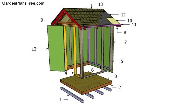 162 best images about diy garden buildings architectural for Equipment shed plans free