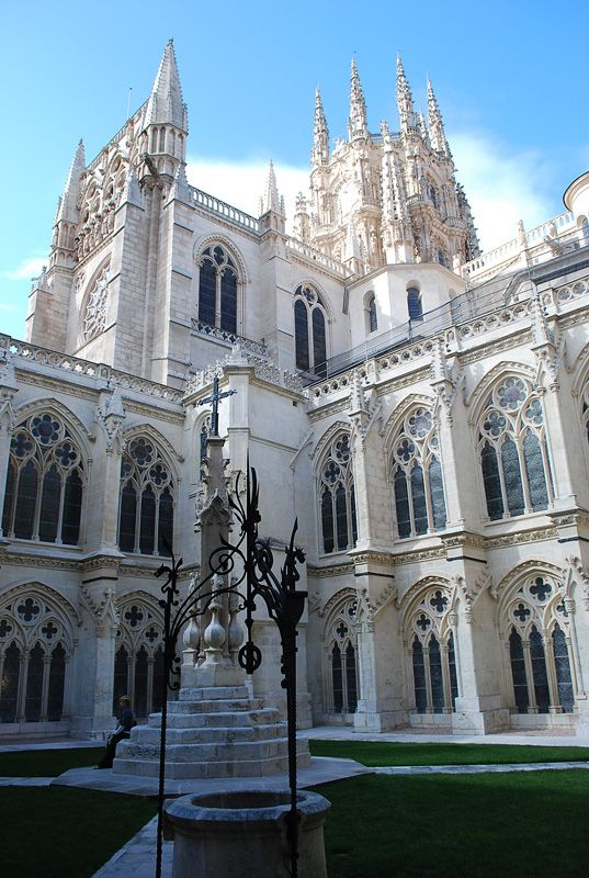 Cloister of Burgos Cathedral, Spain