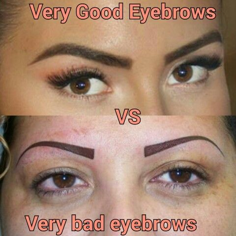 Our work on the top Very Good Eyebrows and theirs on the ...