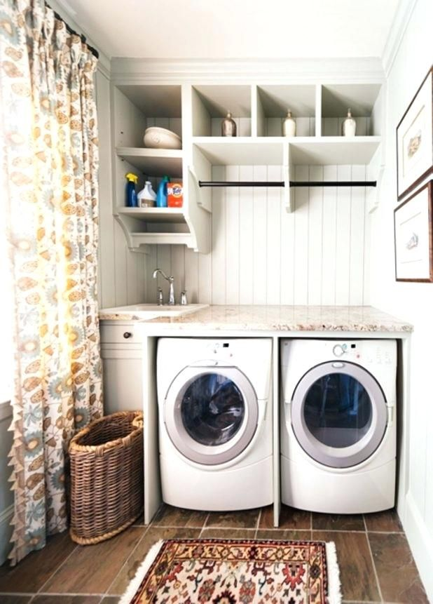Laundry Room Sink Ideas Cool Small Laundry Utility Sink Curtain