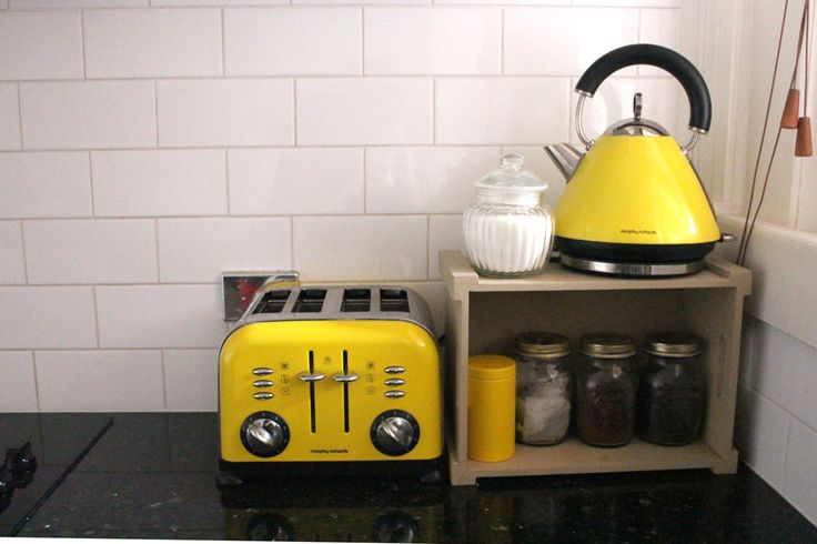 Mustard Yellow Toaster And Kettle From See Me Everywhere