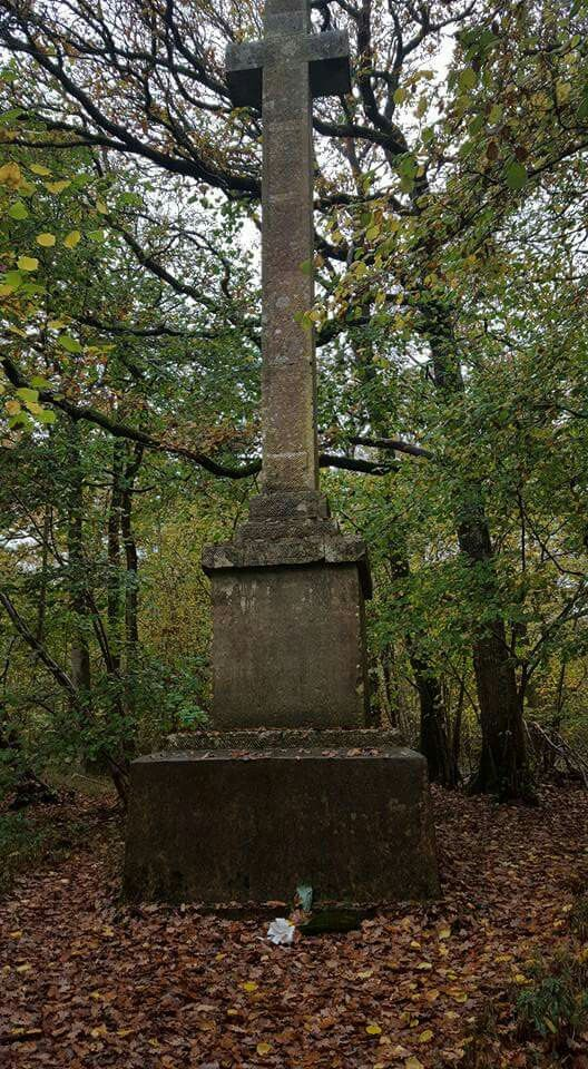 Monument in woods near Andover...