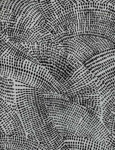 Textural Pattern - monochrome print design with dotted shapes arranged to suggest movement and direction // Luli Sanchez