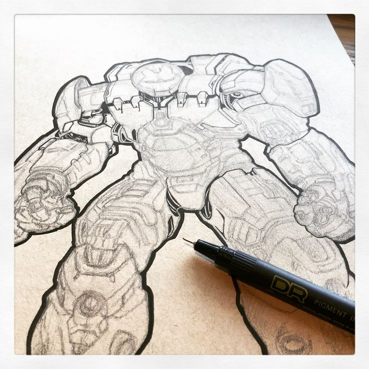 Hulk buster inking coming along slowly By Huw Williams