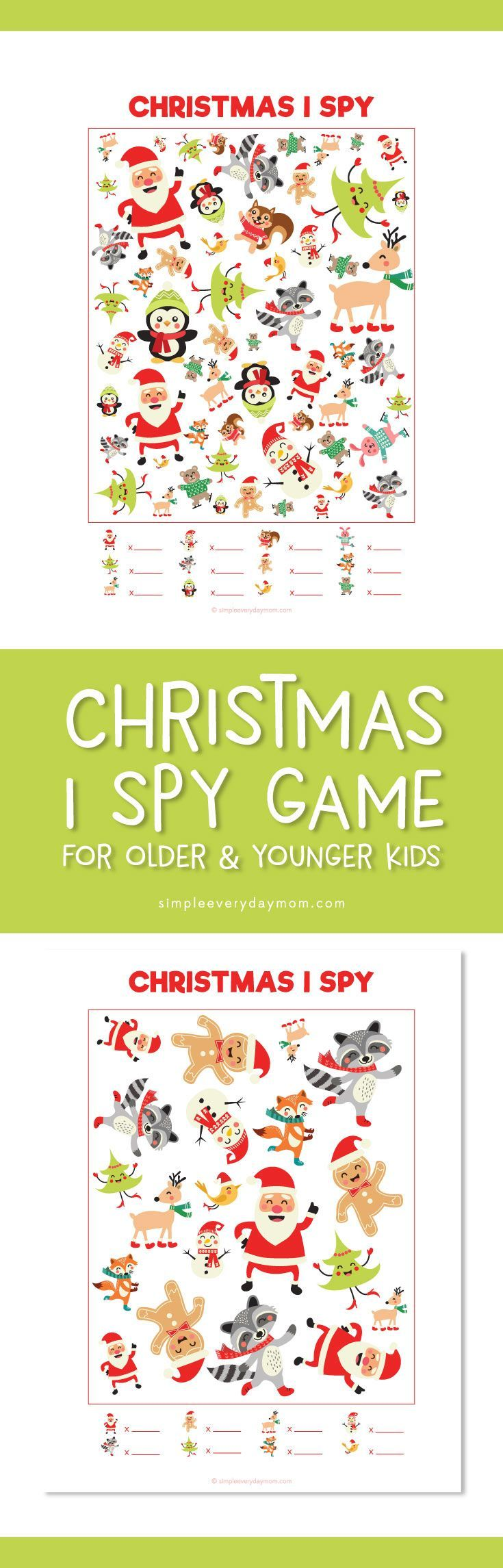 Christmas I Spy | Kids love these I Spy games and moms love them too because of all the quiet time.