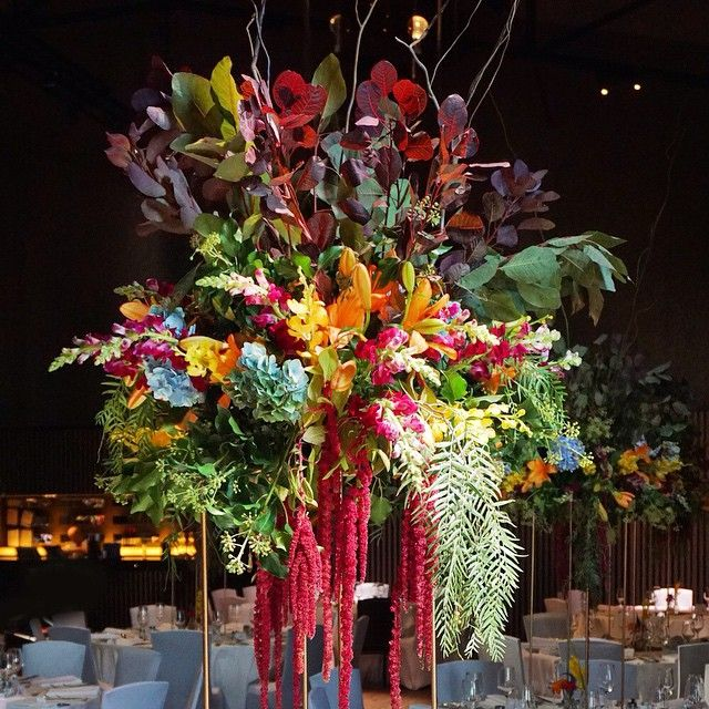 Our floral centrepieces on our custom made gold stands were a colour explosion at Sally & Adam's wedding last night! #secretblossom #flowersmelbourne #melbourne #melbourneflowers #melbournestyle #melbournelife #melbourneshopping #melbourneflorist #melbournebride #melbournewedding #melbournenow #melbournecity #melbournegirl #melbourneevents #cityofmelbourne @atlanticgroup #atlanticgroup #docklands #maia #mai