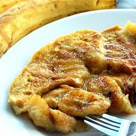 Ομελέττα με μπανάνες