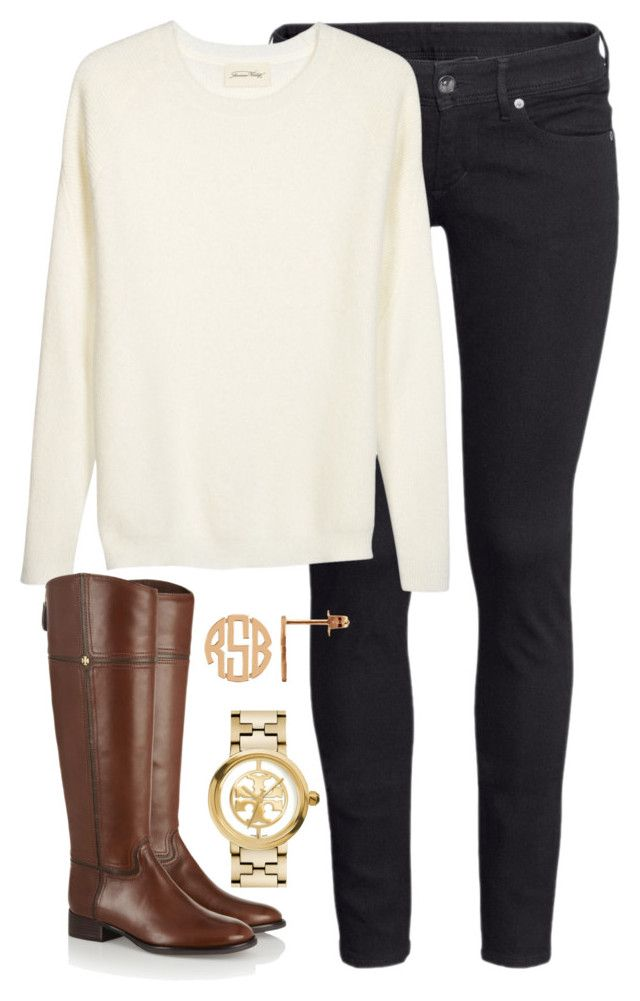 """cold weather"" by whitegirlsets ❤ liked on Polyvore featuring H&M, Tory Burch, women's clothing, women, female, woman, misses and juniors"