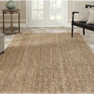 @Overstock.com - This hand-woven sisal rug will bring texture and depth to any room. Made from natural jute, this 8-foot square rug will look great at a beach house, in a living room, bedroom or office. A low pile makes this versatile rug easy to clean and maintain. http://www.overstock.com/Home-Garden/Hand-woven-Weaves-Natural-colored-Fine-Sisal-Rug-8-Square/5524444/product.html?CID=214117 $228.99