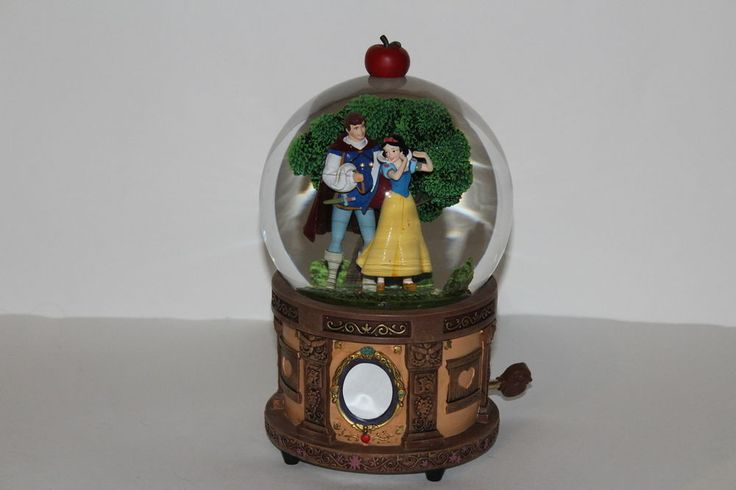 Disney Snow White Prince Charming Musical Snowglobe Snow Globe The Moment Of Two #Disney