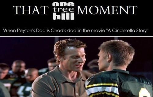 That one tree hill moment. Why did I not notice this?!?!?! I just watched this movie the other day!