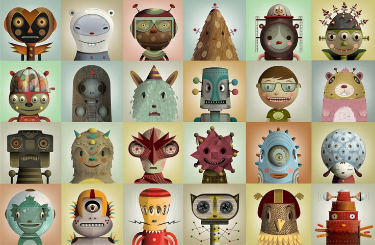 Thank you Pictoplasma Character Compendium for helping me discover the work of Cristian Turdera. What style!