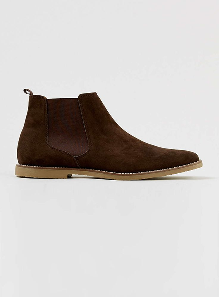 Trigger Brown Suedette Chelsea Boots