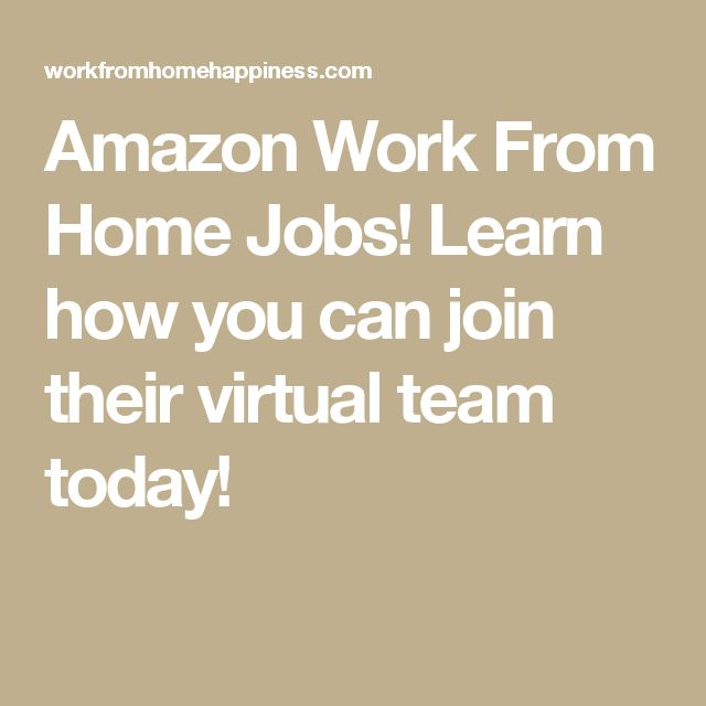 Amazon Work From Home Jobs! Learn how you can join their virtual team today!