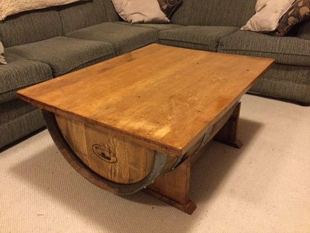 Half Barrel Coffee Table