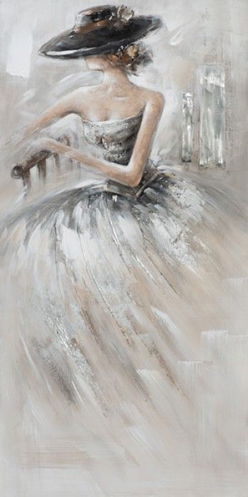 schilderij vrouw 50x100