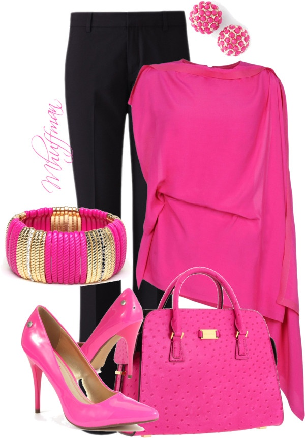 """""""Think Pink"""" by mhuffman1282 on Polyvore"""