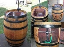 Como transformar um barril de vinho , em uma pia de jardim