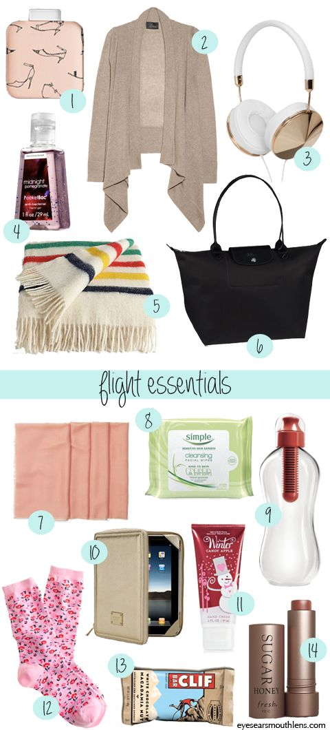 my fourteen carry-on essentials. | eyes/ears/ mouth+lens