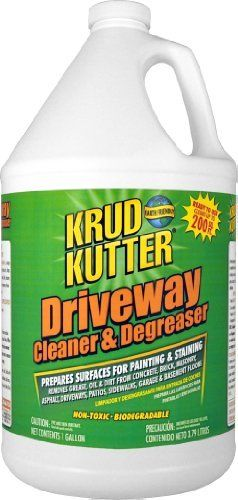 Krud kutter dc01 clear driveway cleaner and degreaser with for Cleaning oil off cement