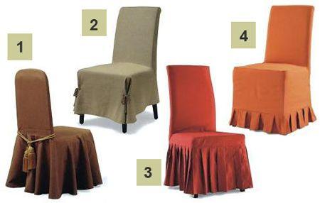 Как сшить чехлы на стулья