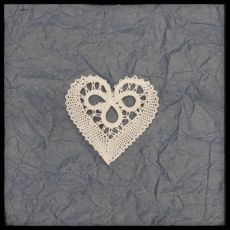 Heart bobbin lace, Slovenian lace, Idrija bobbin lace, pillow lace by…